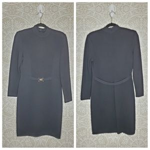 St. John Santana Knit Long Sleeve Sweater Dress 2